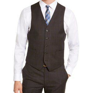 Michael Kors Suit Vest Brown Large